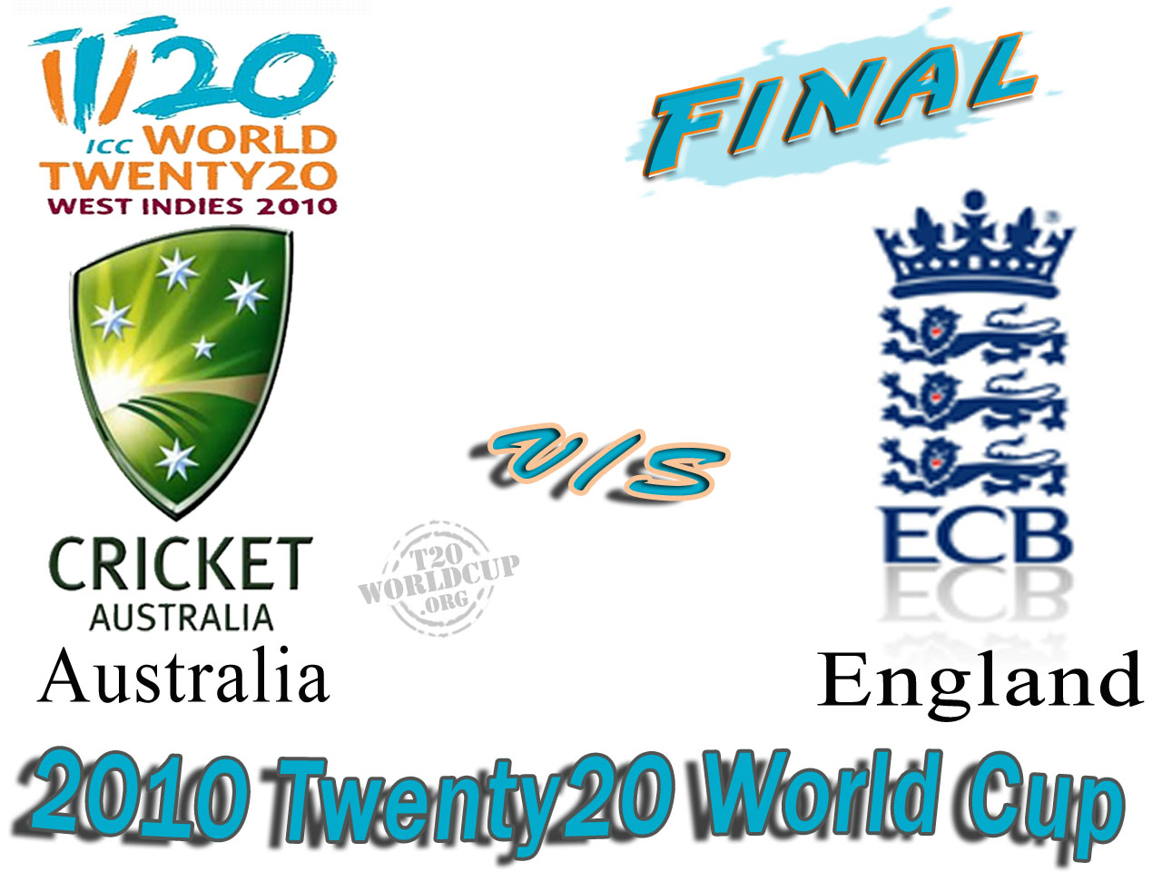 t20 world cup final 2010 Australia vs England